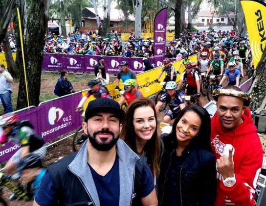 Jacaranda FM's Martin Bester, Elma Smit, Liesl Laurie and DJ Jazzy D (Picture credit - Altus Venables)