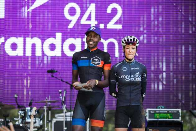 Phillimon-Sebona-and-Danielle-Strydom---winners-of-the-50km-mens-and-womens-races