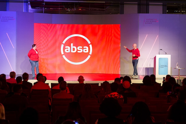 David-Wingfield-managing-executive-marketing-at-Absa-Group-and-Jenny-Moore-GM-brand-design-functions