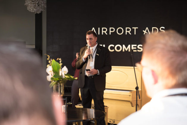 Jacques-du-Preez-CEO-of-Provantage-Media-Group-introduction-and-thanks-at-the-relaunch-of-Airport-Ads
